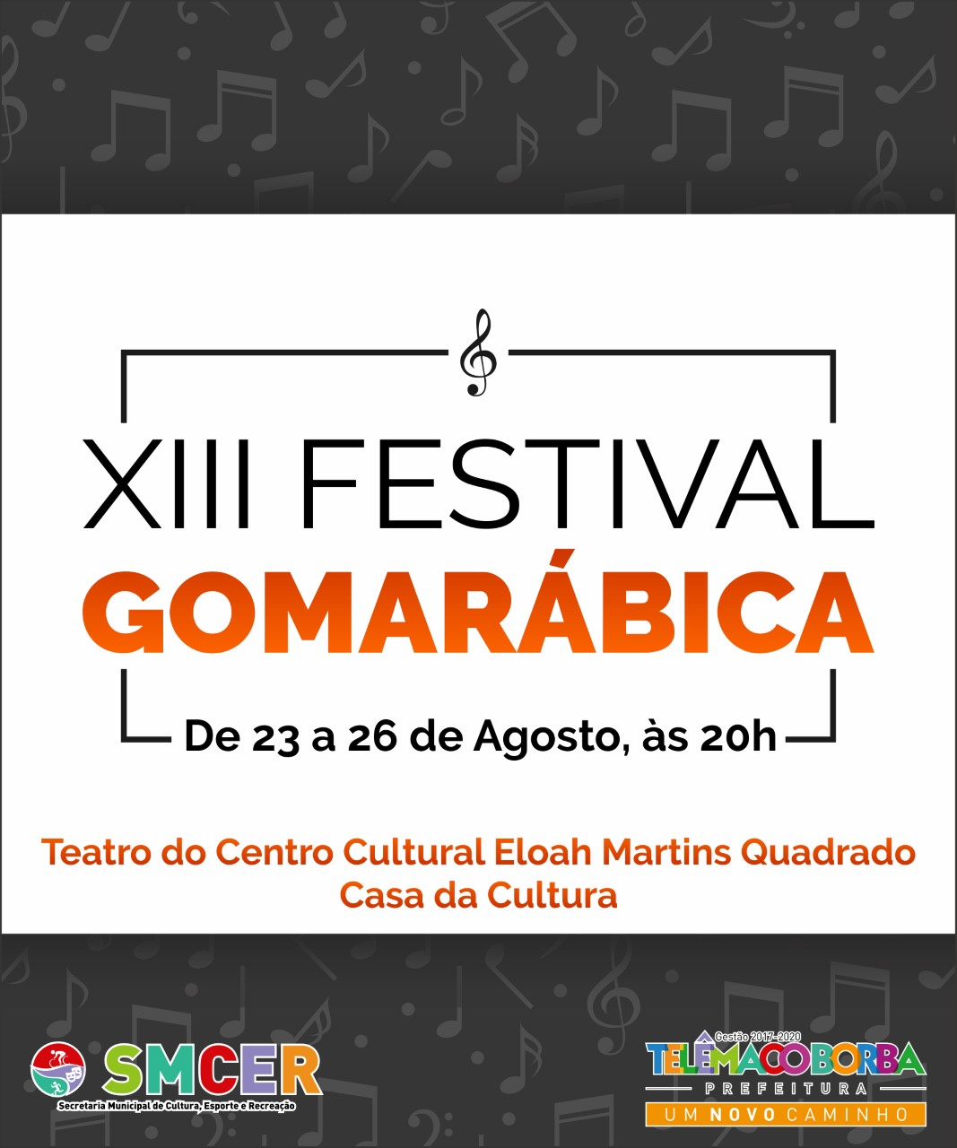 """7d751323f2 Os interessados em participar do XIII Festival de Música """"Gomarábica"""" tem  até sexta-feira (18) para realizar a inscrição. Elas podem ser feitas na  Divisão ..."""
