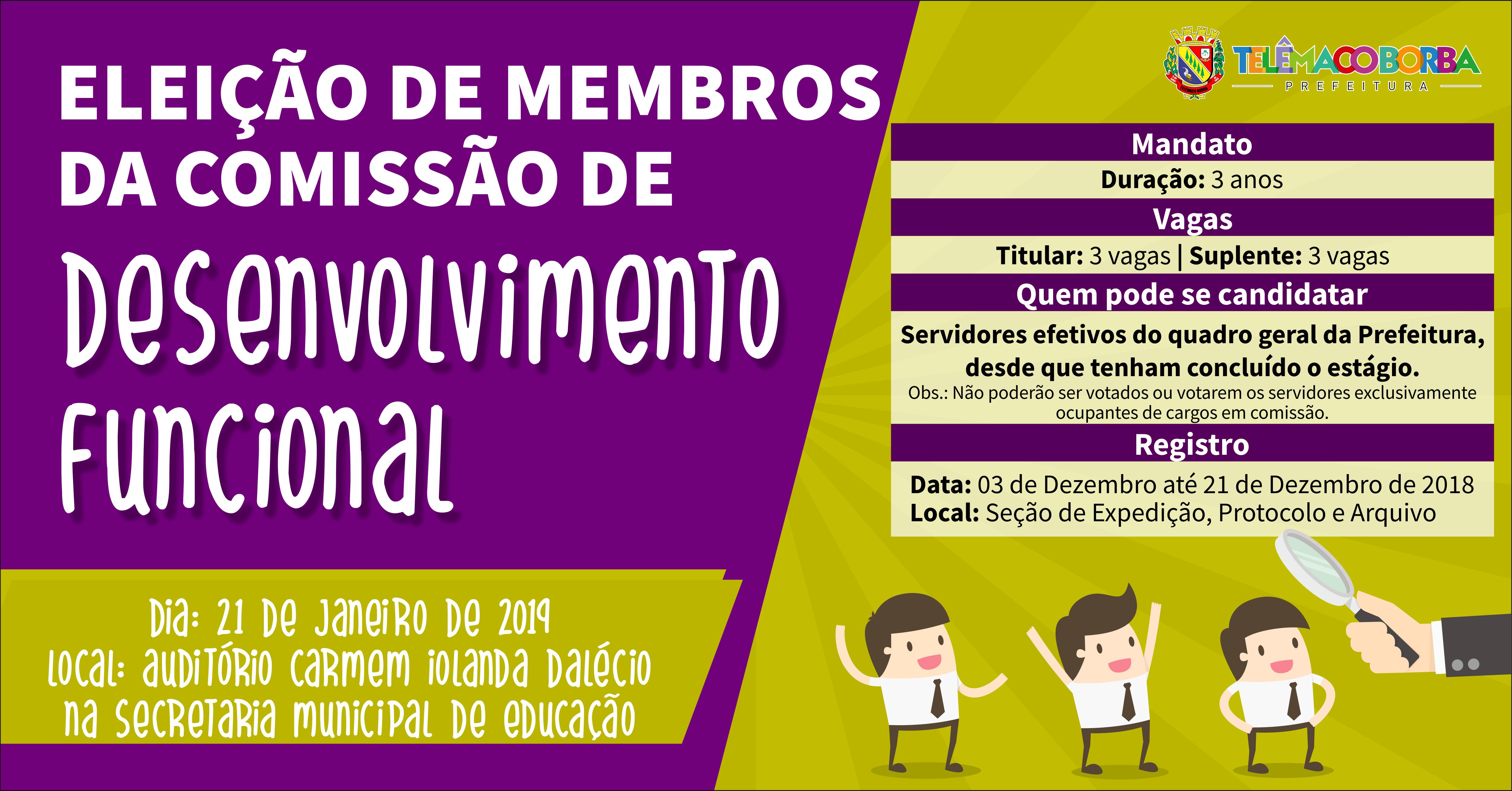 Eleição Membros Comissão Desenvolvimento Funcional