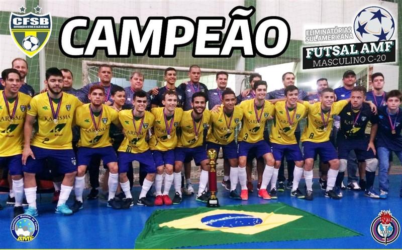 A Seleção Brasileira de Futsal Masculino AMF (Associação Mundial de Futsal)  C-20 sagrou-se campeã das Eliminatórias Sul-americanas 4f5751a4e435e