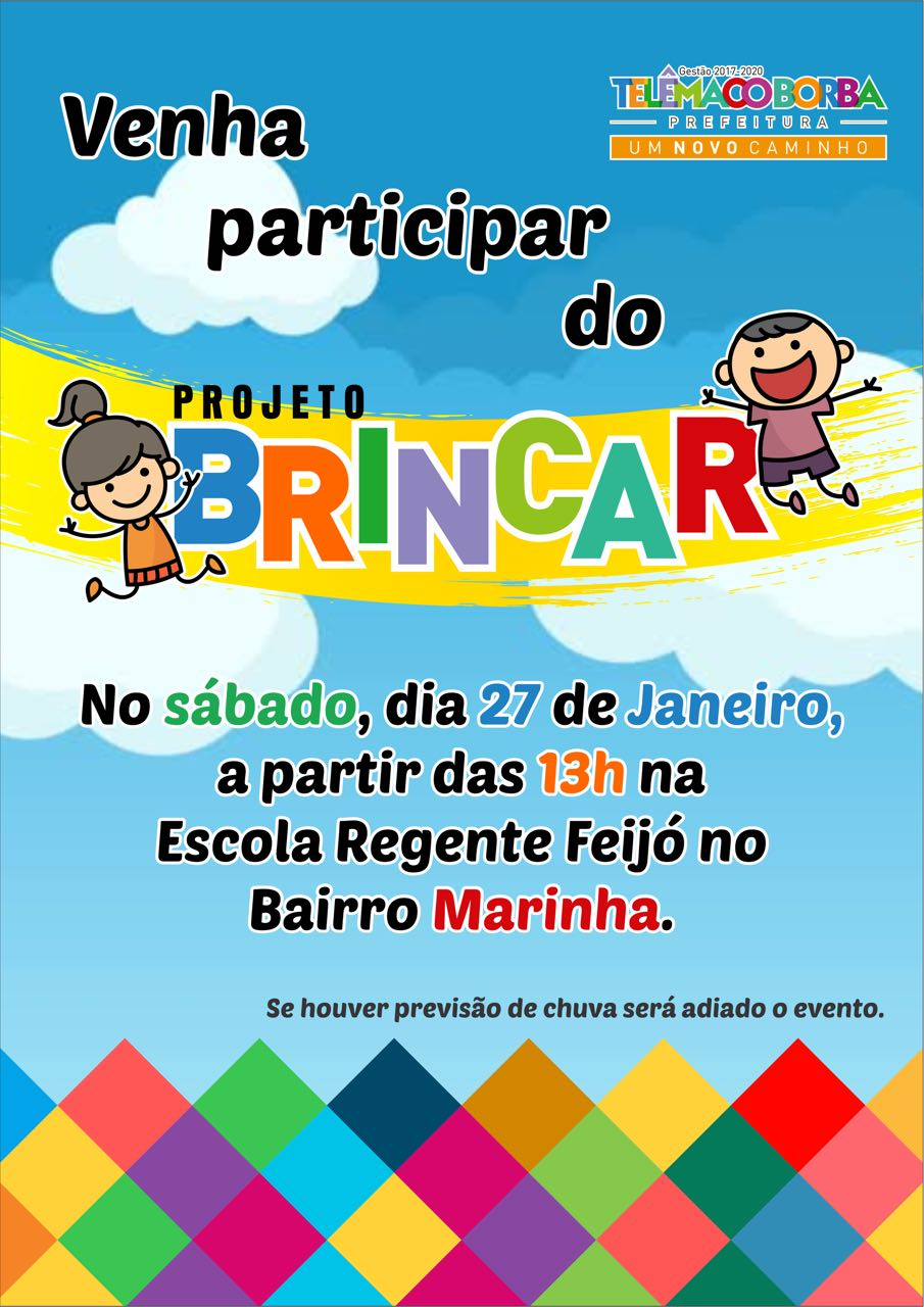 Confira notícias e agenda do Projeto Brincar