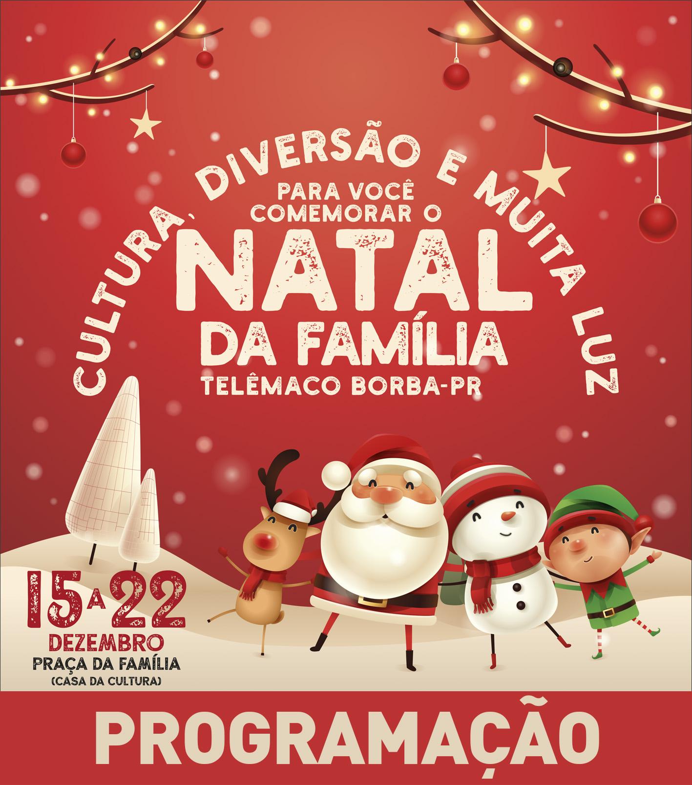 Programação do Natal da Família 2018